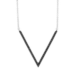 Madison E 0.12ct 14k White Gold Black Diamond Pendant