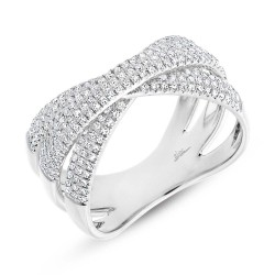 Madison E 0.60ct 14k White Gold Diamond Pave Bridge Ring