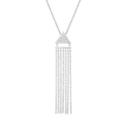 Madison E 0.11ct 14k White Gold Diamond Fringe Pendant
