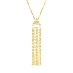 Madison E 0.11ct 14k Yellow Gold Diamond Fringe Pendant
