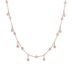 Madison E 0.34ct 14k Rose Gold Diamond Shaker Necklace