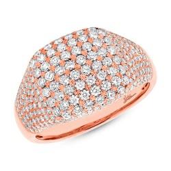 Madison E 1.32ct 14k Rose Gold Diamond Pave Lady