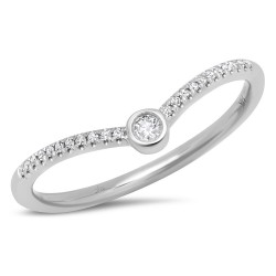 Madison E 0.09ct 14k White Gold Diamond Lady
