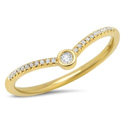 Madison E 0.09ct 14k Yellow Gold Diamond Lady