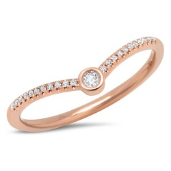 Madison E 0.09ct 14k Rose Gold Diamond Lady