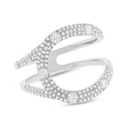 Madison E 0.57ct 14k White Gold Diamond Lady