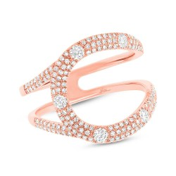 Madison E 0.57ct 14k Rose Gold Diamond Lady
