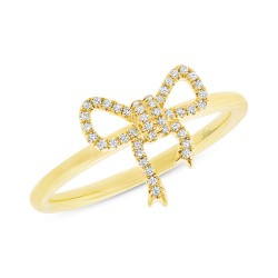Madison E 0.11ct 14k Yellow Gold Diamond Bow Lady
