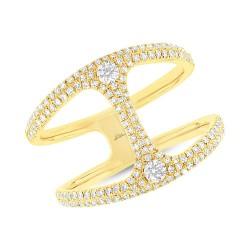 Madison E 0.54ct 14k Yellow Gold Diamond Lady