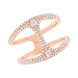 Madison E 0.54ct 14k Rose Gold Diamond Lady