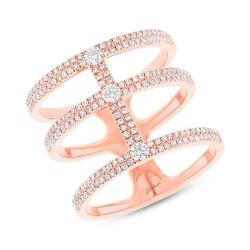 Madison E 0.59ct 14k Rose Gold Diamond Lady