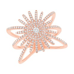 Madison E 0.58ct 14k Rose Gold Diamond Lady