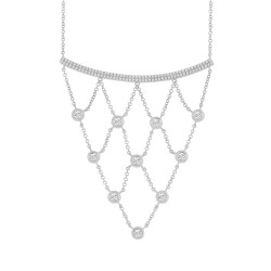 Madison E 0.65ct 14k White Gold Diamond Necklace