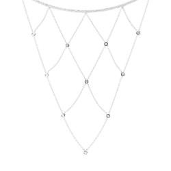 Madison E 0.69ct 14k White Gold Diamond Necklace