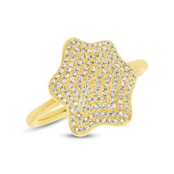 Madison E 0.37ct 14k Yellow Gold Diamond Pave Lady