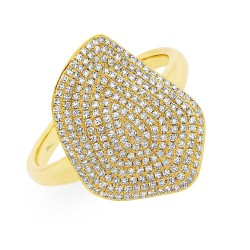 Madison E 0.57ct 14k Yellow Gold Diamond Pave Lady