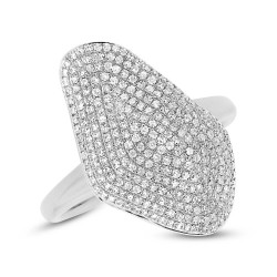 Madison E 0.63ct 14k White Gold Diamond Pave Lady