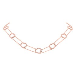 Madison E 0.77ct 14k Rose Gold Diamond Necklace