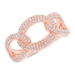 Madison E 0.55ct 14k Rose Gold Diamond Lady