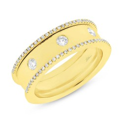Madison E 0.35ct 14k Yellow Gold Diamond Lady