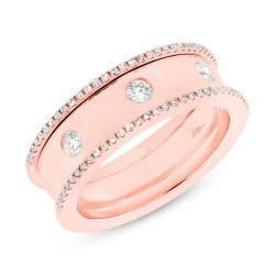 Madison E 0.35ct 14k Rose Gold Diamond Lady