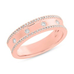 Madison E 0.23ct 14k Rose Gold Diamond Lady