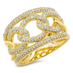 Madison E 0.61ct 14k Yellow Gold Diamond Lady