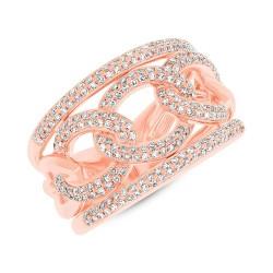 Madison E 0.61ct 14k Rose Gold Diamond Lady