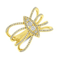 Madison E 0.46ct 14k Yellow Gold Diamond Lady