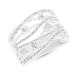 Madison E 0.49ct 14k White Gold Diamond Bridge Ring