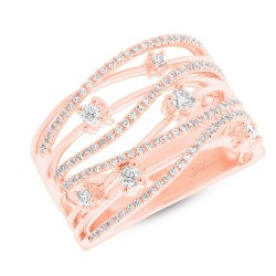 Madison E 0.49ct 14k Rose Gold Diamond Bridge Ring