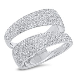 Madison E 0.81ct 14k White Gold Diamond Pave Lady