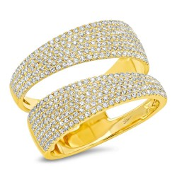 Madison E 0.81ct 14k Yellow Gold Diamond Pave Lady