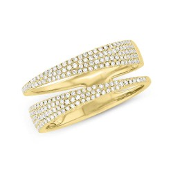 Madison E 0.45ct 14k Yellow Gold Diamond Pave Lady