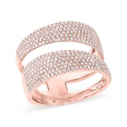 Madison E 0.81ct 14k Rose Gold Diamond Pave Lady