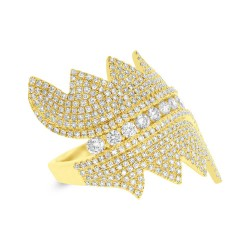Madison E 1.28ct 14k Yellow Gold Diamond Pave Lady