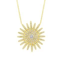 Madison E 0.43ct 14k Yellow Gold Diamond Necklace