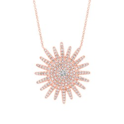 Madison E 0.43ct 14k Rose Gold Diamond Necklace
