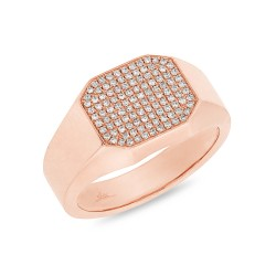 Madison E 0.26ct 14k Rose Gold Diamond Pave Lady