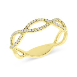 Madison E 0.19ct 14k Yellow Gold Diamond Lady