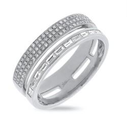 Madison E 0.54ct 14k White Gold Diamond Baguette Lady