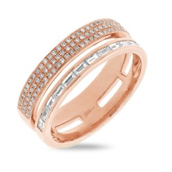 Madison E 0.54ct 14k Rose Gold Diamond Baguette Lady