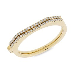Madison E 0.14ct 14k Yellow Gold Diamond Hinge Lady