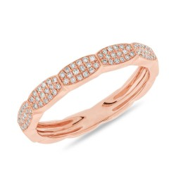 Madison E 0.17ct 14k Rose Gold Diamond Pave Lady