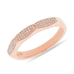 Madison E 0.13ct 14k Rose Gold Diamond Pave Lady