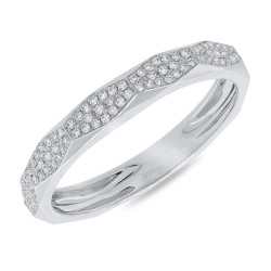Madison E 0.17ct 14k White Gold Diamond Pave Lady