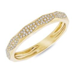 Madison E 0.17ct 14k Yellow Gold Diamond Pave Lady