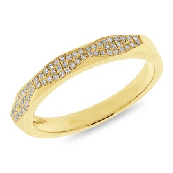 Madison E 0.12ct 14k Yellow Gold Diamond Pave Lady