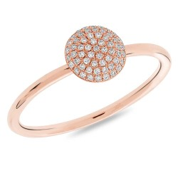 Madison E 0.11ct 14k Rose Gold Diamond Pave Circle Ring