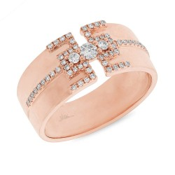Madison E 0.27ct 14k Rose Gold Diamond Lady